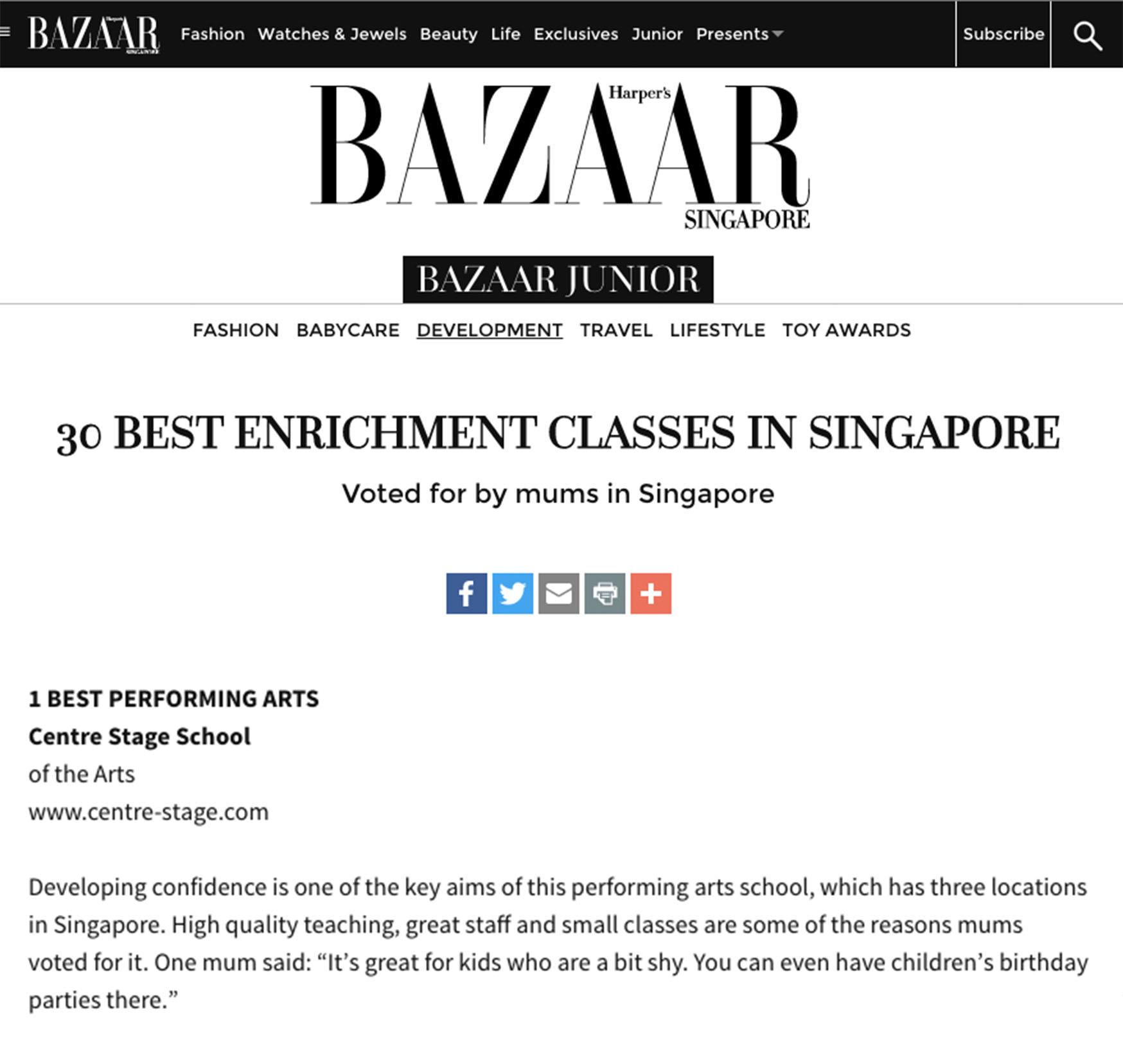 Harpers Bazaar Article