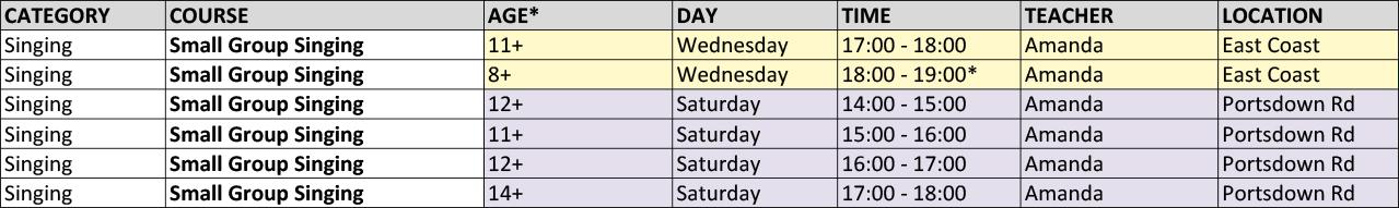 Singing Timetable_2017